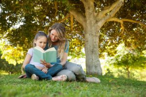 reading with children, being a fun mom