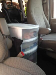 car storage and organize for road trips