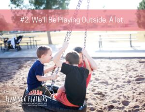 The importance of playing outside during the summer, special needs homeschooling